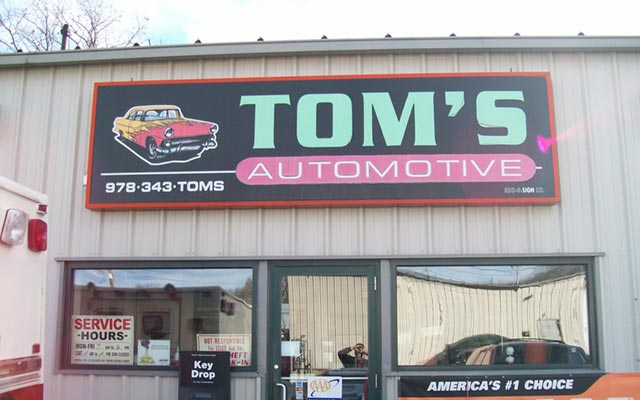 Tom's Automotive repair shop in Fitchburg, MA
